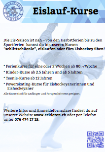 Kursflyer EC Kloten 2014/15