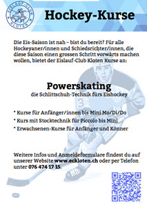 Kursflyer Powerskating EC Kloten 2014/15