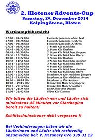 Startliste 2. Klotener Adventscup 2014 Vorschau
